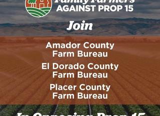 Join El Dorado County           Vote NO on Prop 15