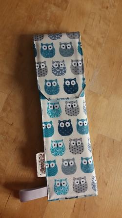 pochettes à couverts avec chouettes bleues