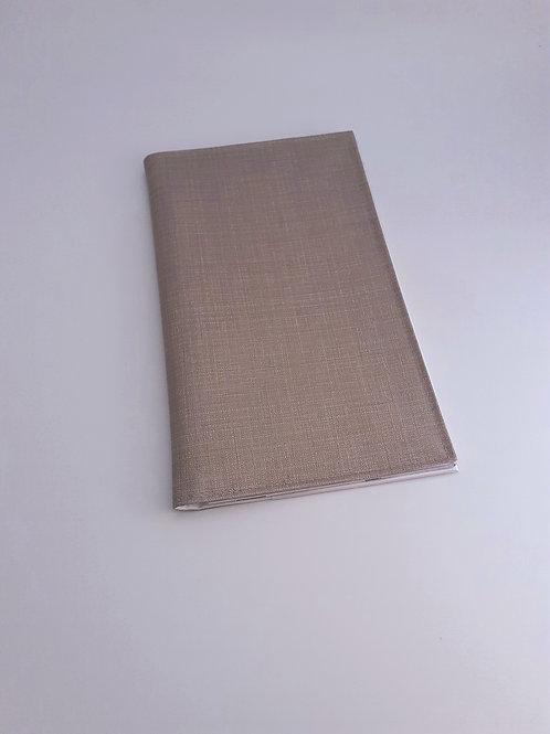 Pochette intermédiaire porte carte vitale  ordonnance en toile cirée beige taupe
