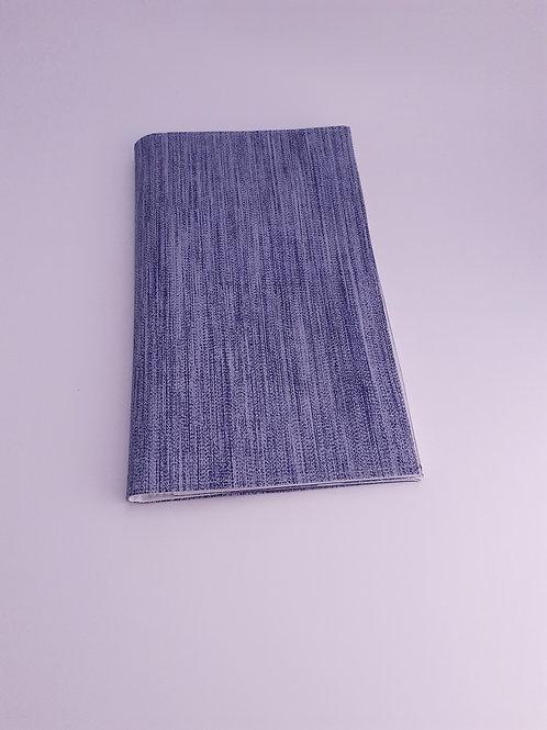 Pochette intermédiaire porte carte vitale  ordonnance en toile cirée bleue