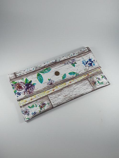 Trousse pochette avec fleurs modèle 1 / pochette fourre tout en toile cirée