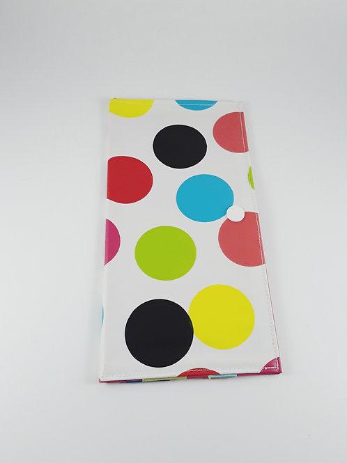 Petite pochette à barrettes à gros pois colorés