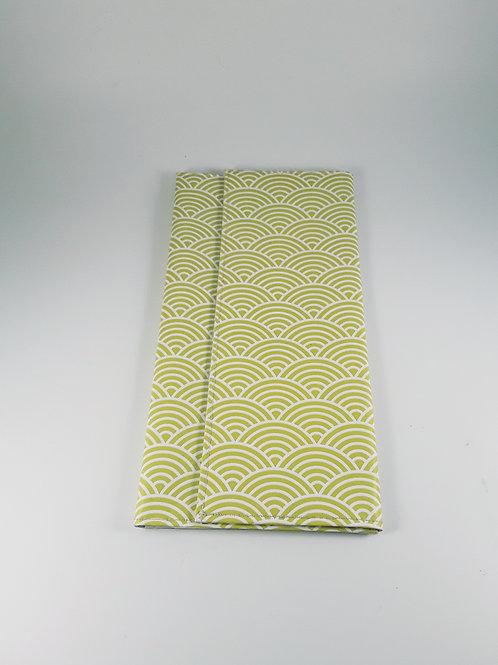 Grande pochette Carte vitale range ordonnance motif japonais
