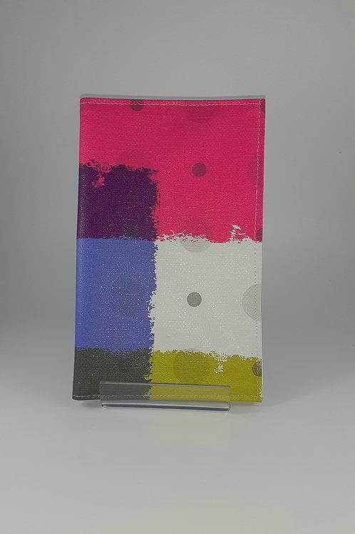 Pochette carte vitale ordonnance petit modèle en toile cirée multicolore