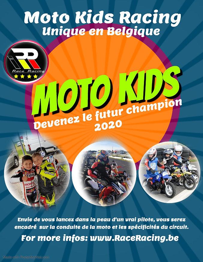kids colage moto et karting - Fait avec