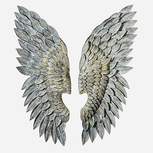 metal angel wings