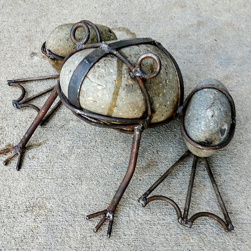 frog made from old rocks **IN STORE PICKUP ONLY**