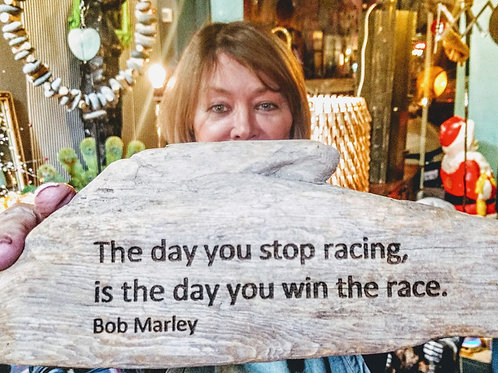 the day you stop racing