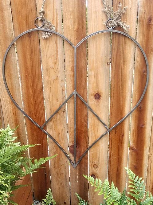 3 ft wide peace heart