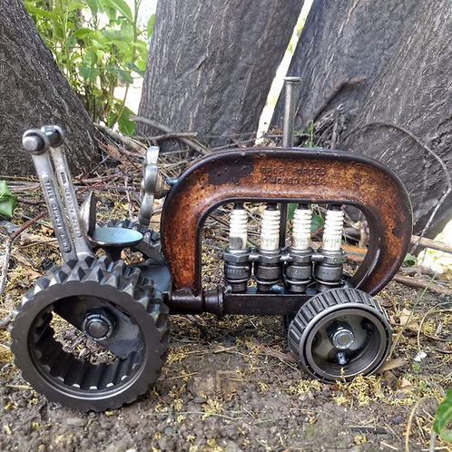 recycled C-clamp tractor**IN STORE PICK UP ONLY**