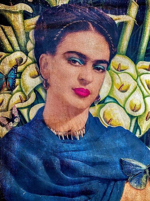 34 x 24 frida kahlo on linen