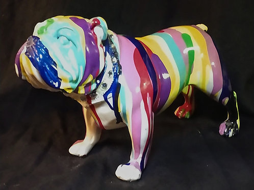 hand painted bulldog**IN STORE PICK UP ONLY**