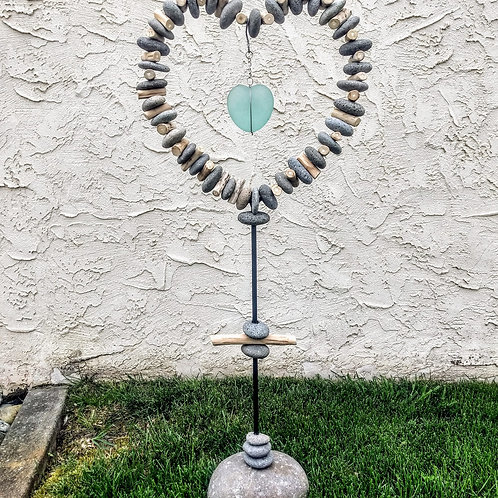 rock hearts yard art **IN STORE PICKUP ONLY**