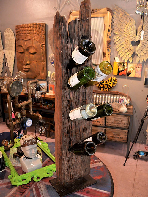 old barn beam recycled into a wine rack**IN STORE PICK UP ONLY**