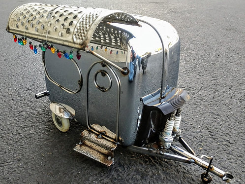 trailer made from a vintage toaster