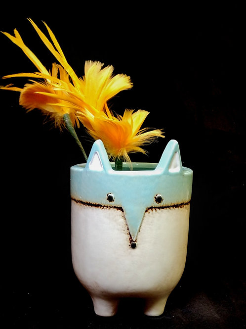 small fox vase **IN STORE PICK UP ONLY**