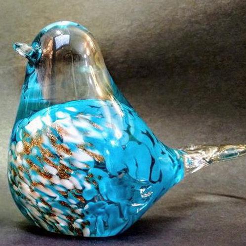heavy glass blown bird