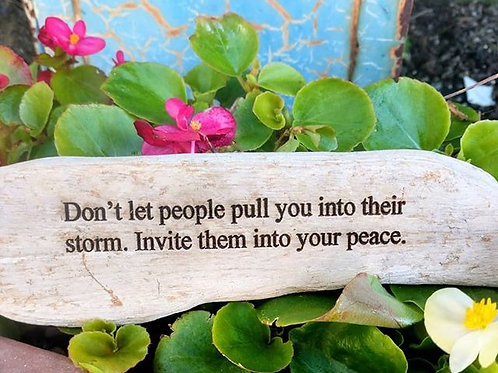 don't let other people pull you into their storm...