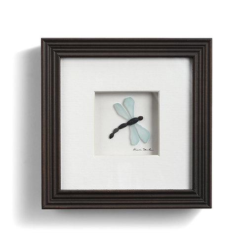 dragon fly pebble art