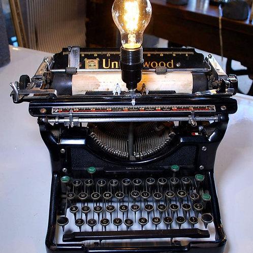 vintage typewriter light**IN STORE PICKUP ONLY**