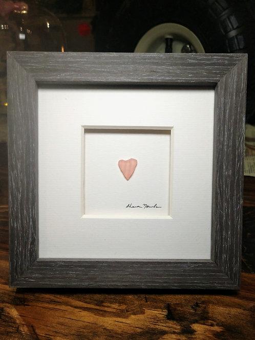 pebble pink heart