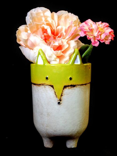 medium fox vase**IN STORE PICK UP ONLY**