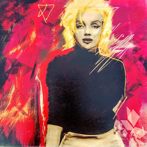 marilyn on 12 x 12 piece of wood
