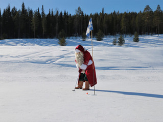 サンタの故郷で雪上スピードゴルフ開催!
