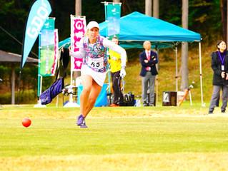 スピードゴルフの女子世界新記録更新!
