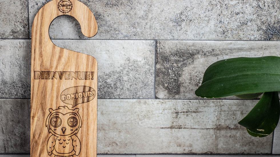 Personalized Wooden Door Hanger - Owl