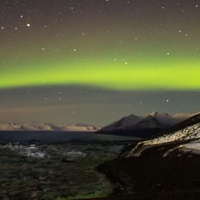Caçando a Aurora Boreal na Islândia