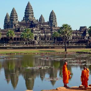 As ruínas de Angkor, no Camboja