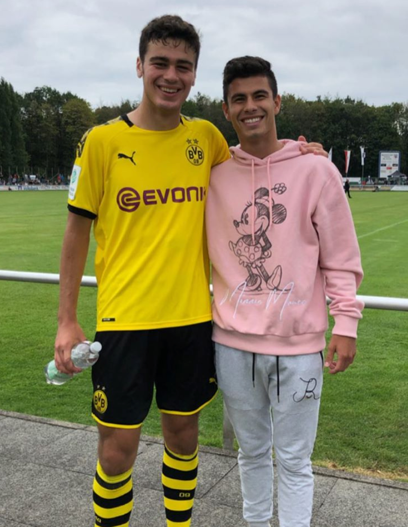 Coach Giuliano with his best friend Giovanni Reyna