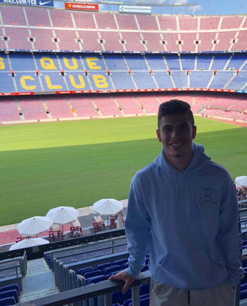 Coach Giuliano at the Camp Nou