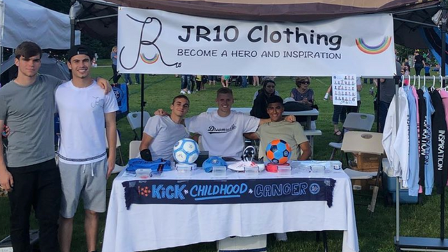 NYCFC Players supporting JR10 Clothing