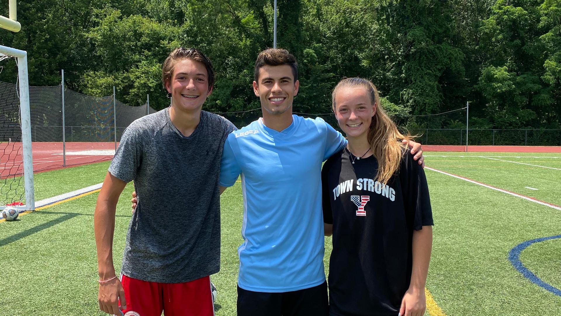Chayce & Lucas Buono with Coach Giuliano