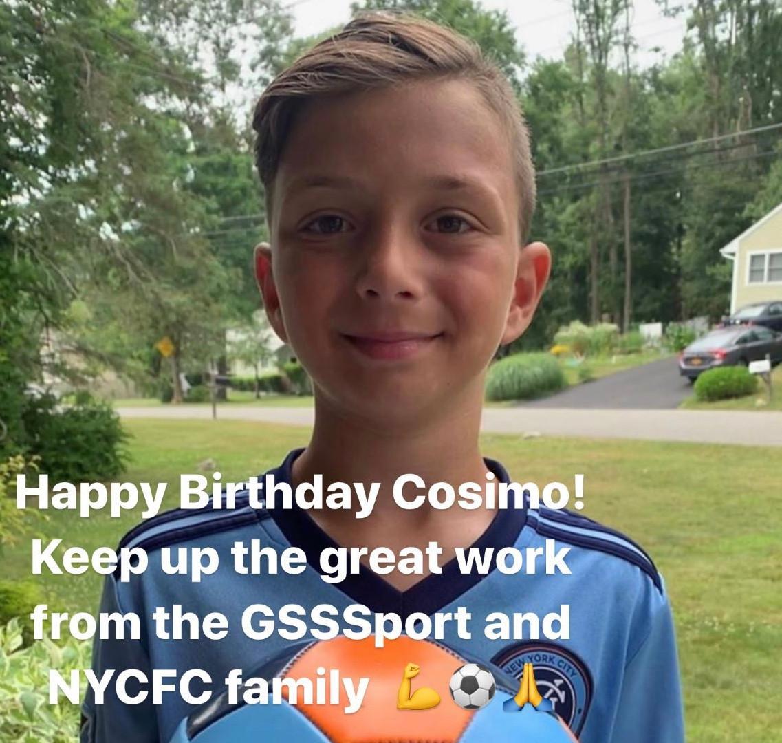 Cosimos Birthday Present from NYCFC Players