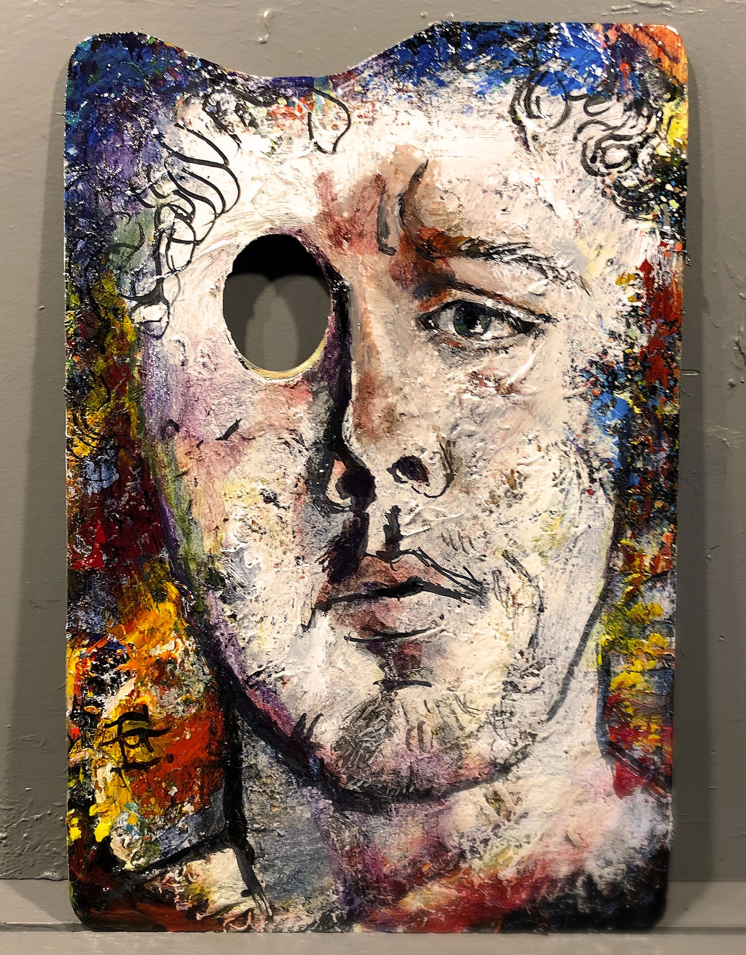 """Autumn Self-Portrait on a Retired Palette"""