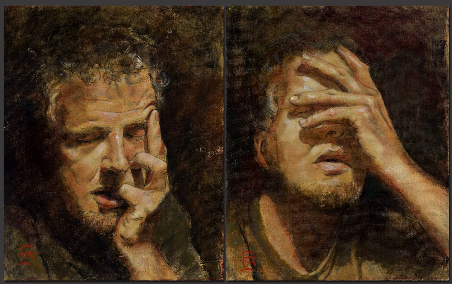 """Self-Portrait"" (Diptych)"