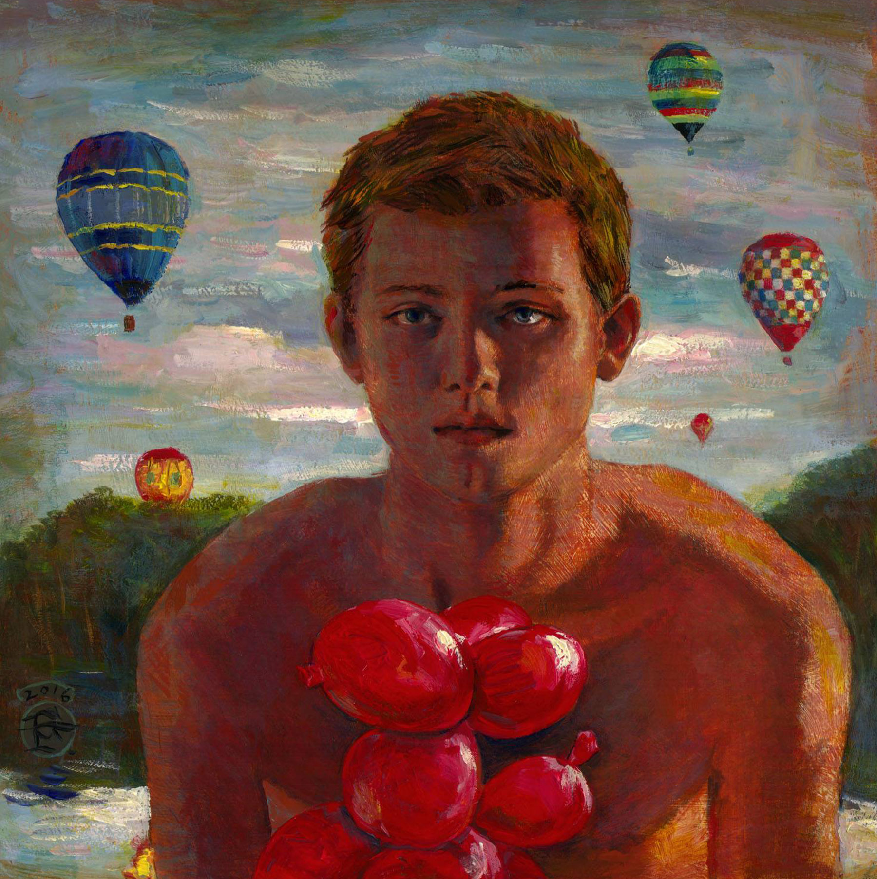 """Boy With Balloons"""