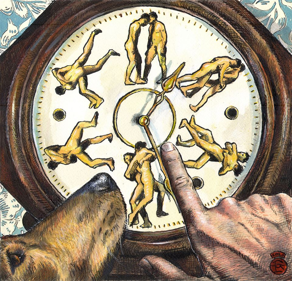 """""""Wrestling With Time (a Riff on Muybridge)"""";"""