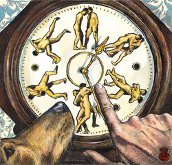 """Wrestling With Time (a Riff on Muybridge)"";"