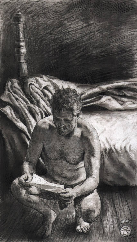 """The Letter"" (Self-portrait)"