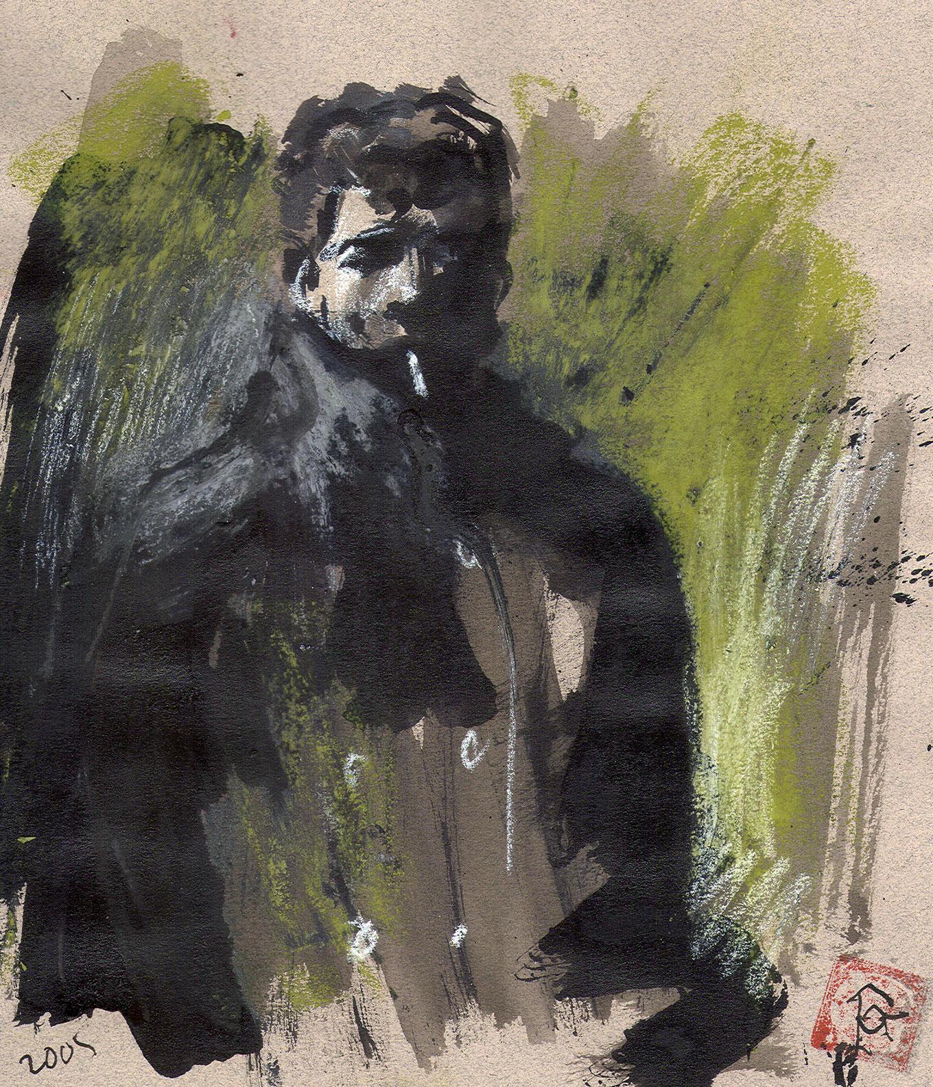 """""""Self-Portrait with a Cigarette"""""""