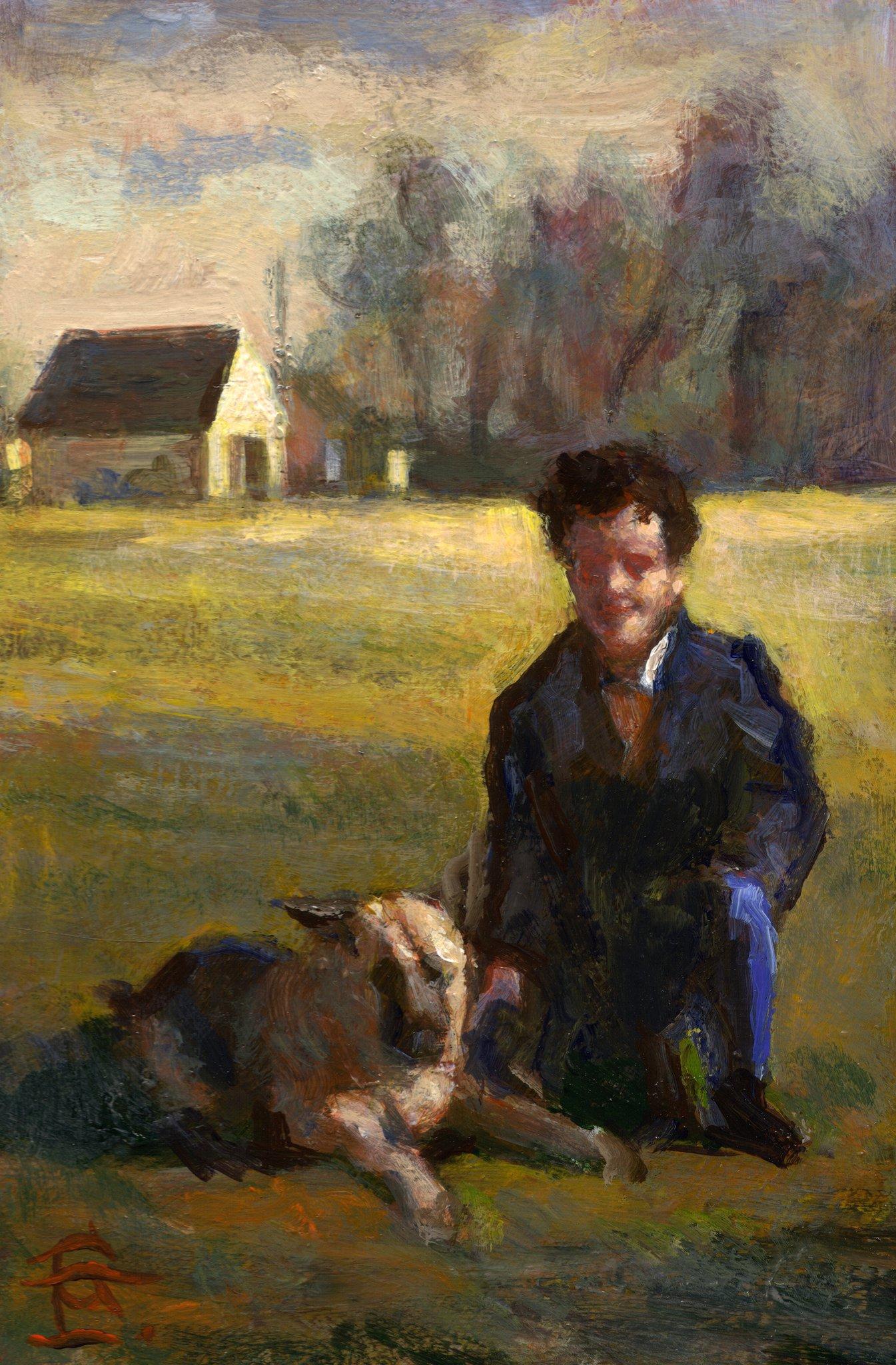 """Self-Portrait with Bruno"""