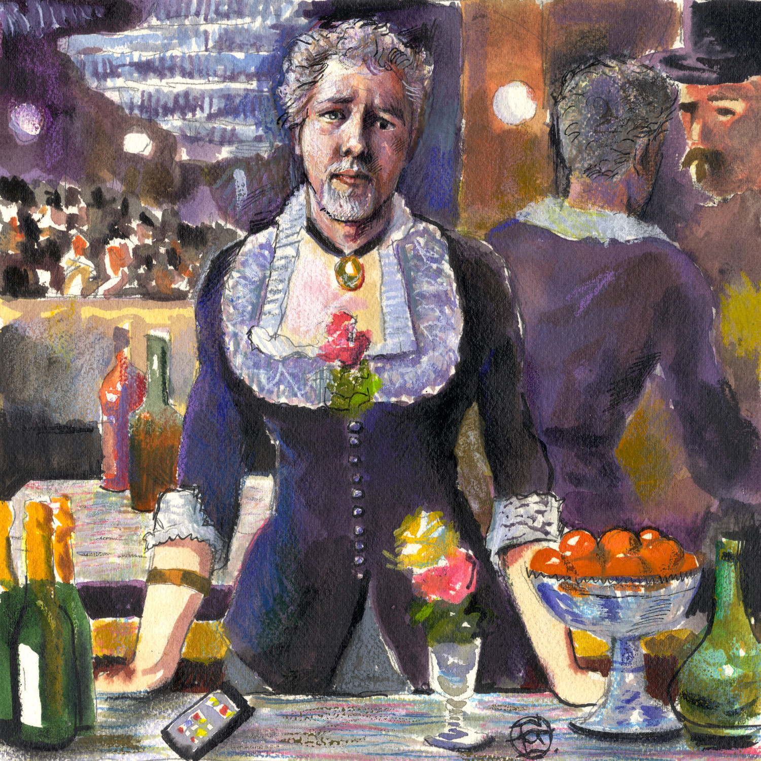 """Self-Portrait à la Manet: A Bar at the Folies-Bergère"""