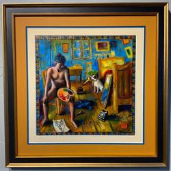 """""""Self-Portrait in Vincent van Gogh's Bedroom, One Starry Night"""""""