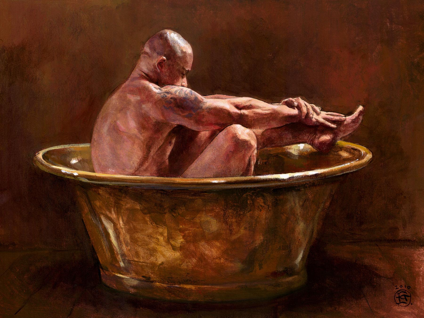 """Bather in a Spotlight"""