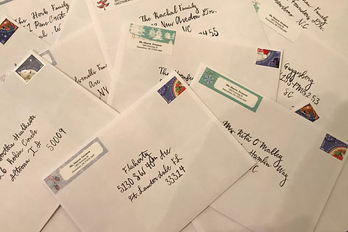 Calligraphy Services- envelope addresses 25 envelopes