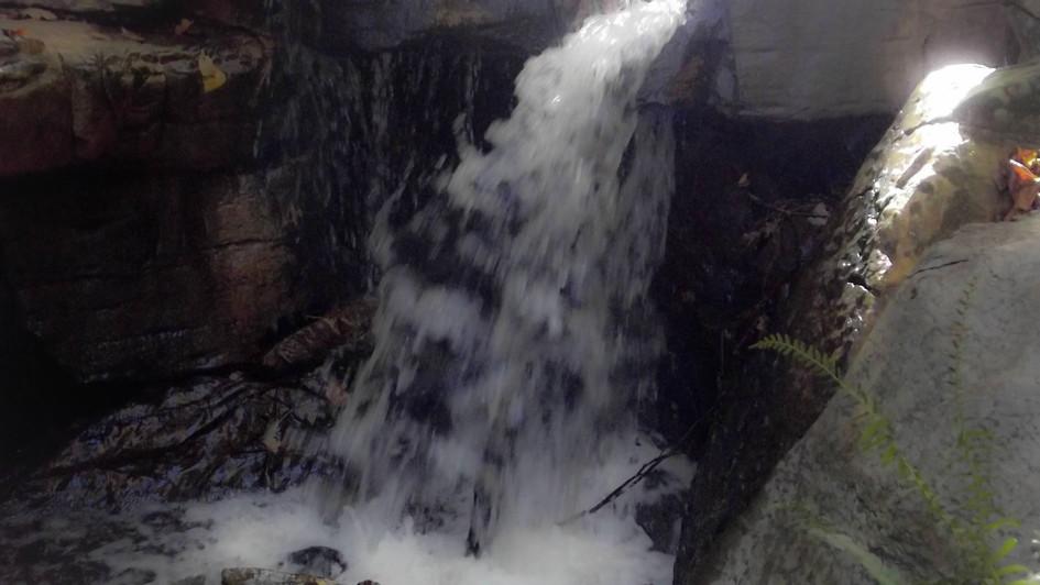 waterfall B&W
